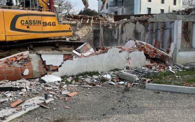 Démolition du bâtiment de l'Accueil