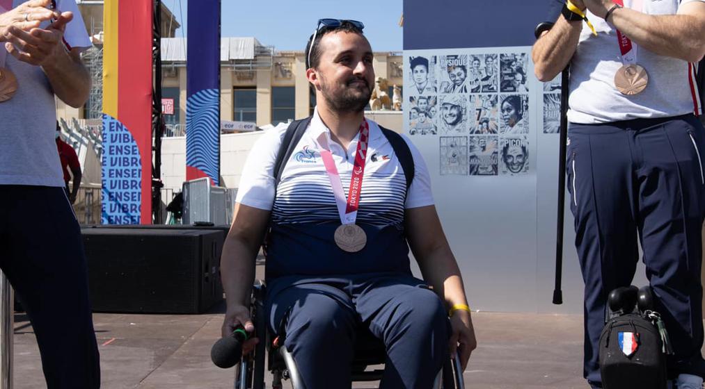 Maxime VALET : médaillé de bronze aux Jeux Paralympiques de Tokyo en escrime fauteuil
