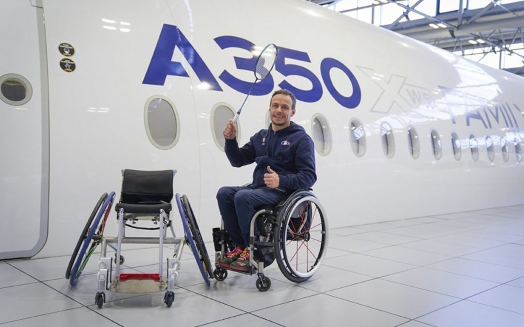 Des ingénieurs d'Airbus conçoivent un fauteuil roulant pour David Toupé